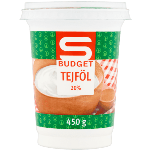 S-BUDGET TEJFÖL 20% 450G