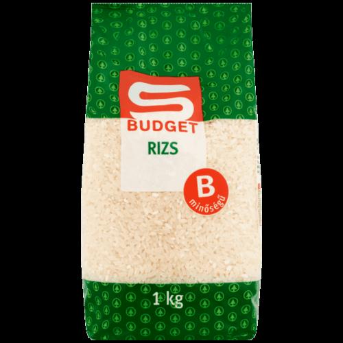 S-BUDGET B MINŐSÉGŰ RIZS 1KG