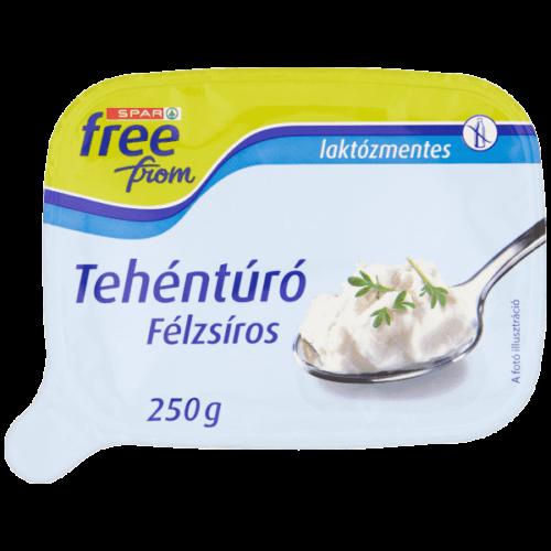 SPAR FREE FROM FÉLZSÍROS LAKTÓZMENTES TEHÉNTÚRÓ 250 G