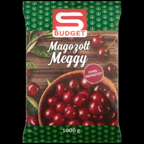 S-BUDGET GYORSFAGYASZTOTT MAGOZOTT MEGGY 1KG