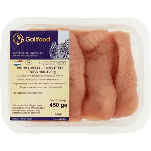 GALLFOOD FRISS, SZELETELT PULYKA MELLFILÉ 450 G