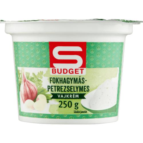 S-BUDGET FOKHAGYMÁS-PETREZSELYMES VAJKRÉM 250 G