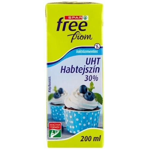 SPAR FREE FROM UHT LAKTÓZMENTES HABTEJSZÍN 30% 200 ML